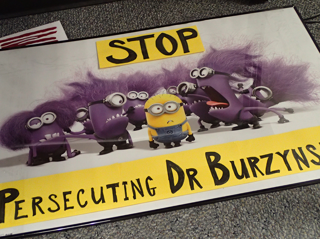 Sign from Byrzynski trial protest