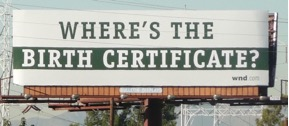 Where's the Birth Certificate Billboard