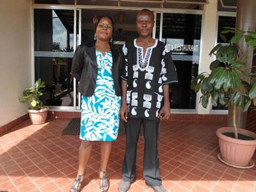 George Ongere with Betty Nassaka
