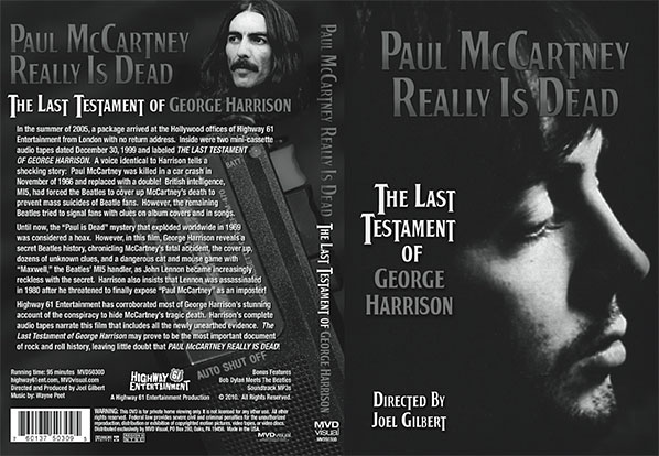 DVD sleeve of 'Paul McCartney Really Is Dead'