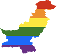 LGBT flag map of Pakistan