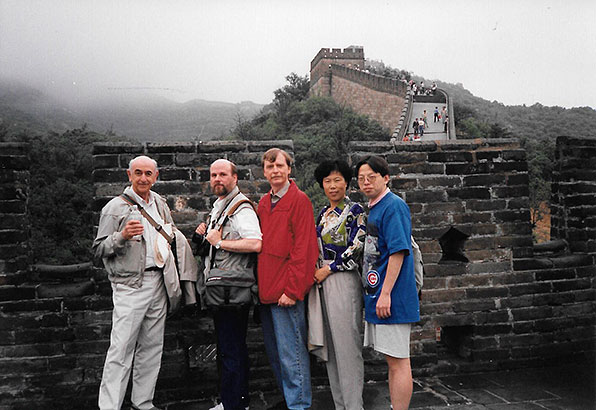 Wallace Sampson with others at the Great Wall of China
