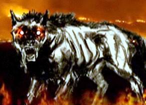 black dog monster