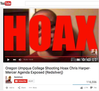 Youtube hoax video screenshot