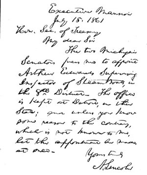 Figure 3: Authentic handwriting of Abraham Lincoln.