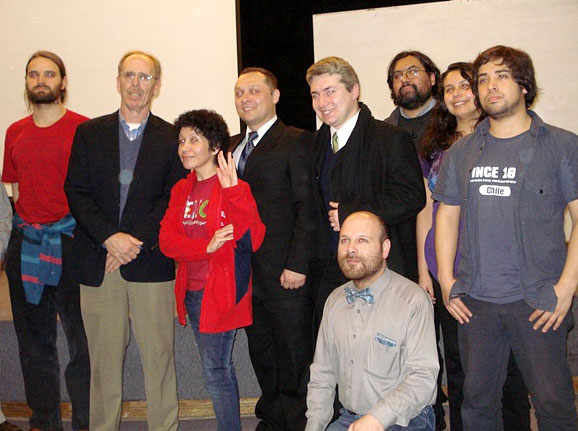 Some members of Chilean Skeptical Association (AECH) with astrophysicist Dr. Carlton R. Pennypacker