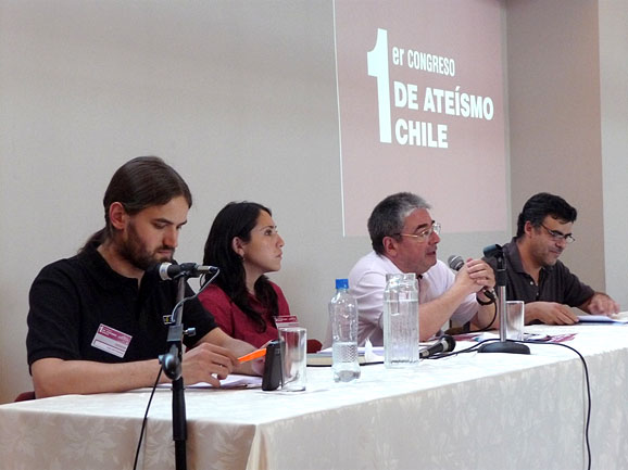 Some panelists at the First Atheist Congress of Chile