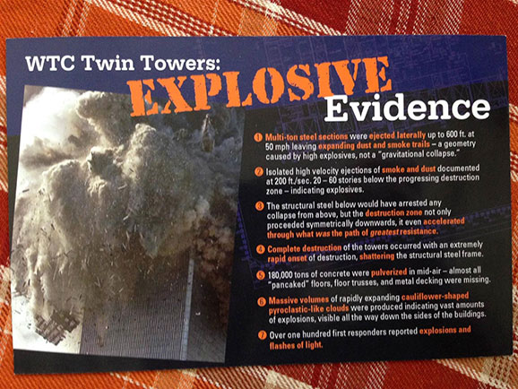 WTC Twin Towers: Explosive Evidence information card