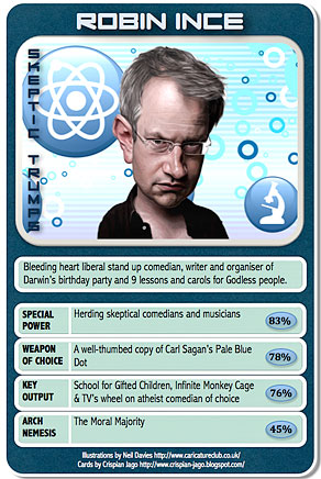 Robin Ince trading card