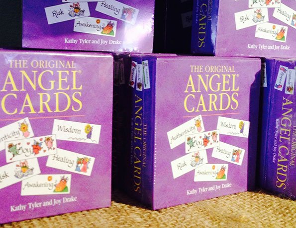 Stack of boxes of The Original Angel Cards