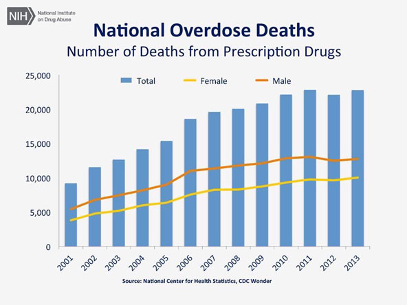 Number of Deaths from Prescription Drugs