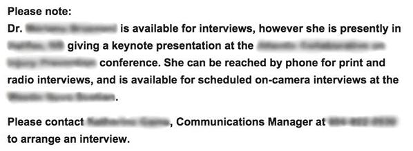 instructions describing how to schedule interview with professor